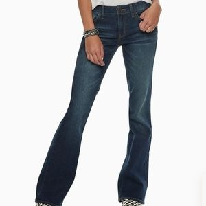 SO Like New Boot Cut Stretchy Comfy, Blue Jeans